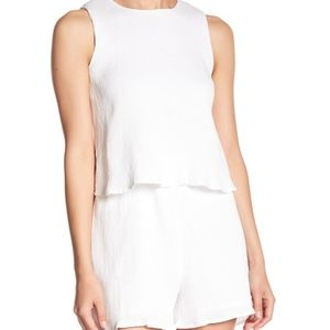 J.O.A. Layered Romper Button Back Detail BC5266 S